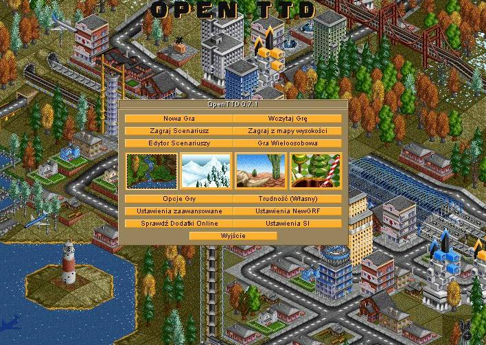 Transport Tycoon Menu